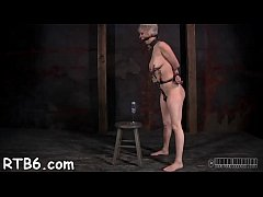 Lovely girl receives facial castigation during bdsm play