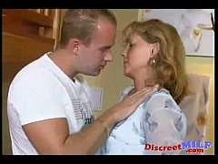 Horny mom and son fucking at home