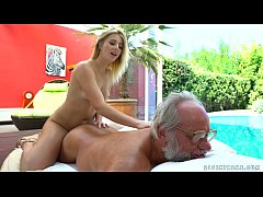 Aria Logan and her much older friend - Grandpas...
