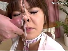 Hot Busty Girl In Sexy Minidress Sucking Cock Pignose Facial