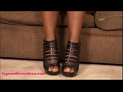 Big Fat Black ugly Whore Gets Fuck & footjob cum on feet
