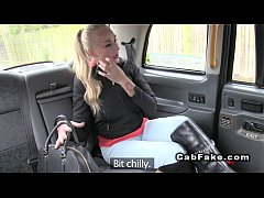 HD Blonde has first time fucking in fake taxi
