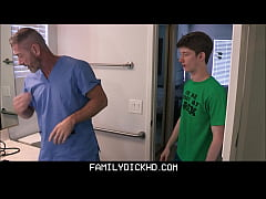 First Time Young Gay Stepson Learns His Body And How To Have Sex From His Horny Doctor Stepdad