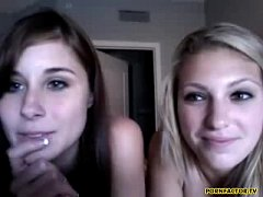 Two naughty girls on web cam - www.pornfactor.tv