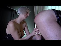 2 Amateur Dominatrix punish man