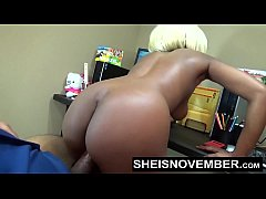 Amateur Ebony Msnovember Fucking Boss On Desk At Work To Keep Her Job Sex & Head