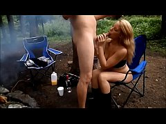 She Sucks Cock at the Campsite in the Morning  a