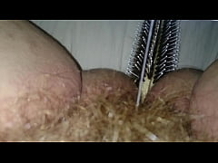 Fucking my wet hairy pussy and ass