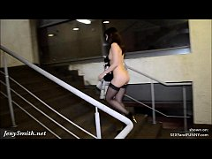 Undressing at movie theatre stairways. Caught!