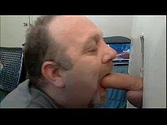 SUCKING THICK UNCUT COCK AT GLORYHOLE