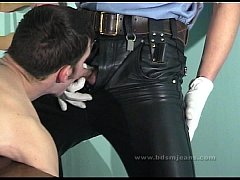 Master in uniform use their dirty slave