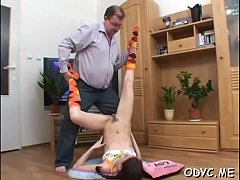 Stunning playgirl gives blow job