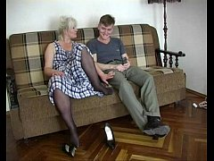 Mature Mom Lena with young guy