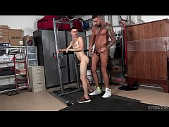 Twink guy assfucked by his huge cocked coach
