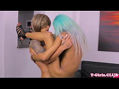 Tattooed transsexual barebacks ethnic shemale