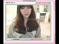 Pretty korean girl recording on camera 6