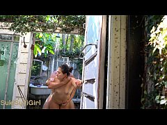 Public fucking outdoors in a shower @sukisukigirlreal @andregotbars