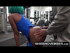 fuck in the gym by a stranger anal and blowjob young msnovember pov public sex