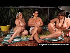 Cuba's #1 Export, BBW Angelina & BBW Friends, Samantha GG & Lexxxi, share Hot Camp Sex Stories & Pour Oil All Over themselves! Full Video & Angelina Live @ AngelinaCastroLive.com!