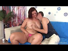 Big boobed mom spreads her legs for dick