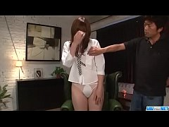 Mami Yuuki throats cock and swallows in the end - More at Javhd.net
