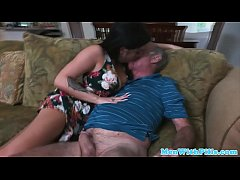 Cocksucking latina pleasures oldmans dick