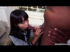 Tight Asian Plays with Big Black Penis
