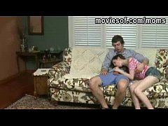 Mature stepmom teaches teen couple how to have sex