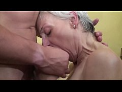 Old and young threesome perfect pure sex