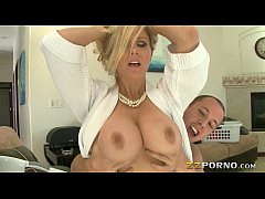 massive boobs milf julia ann gives head and pussy pounded