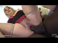 Chubby Hairy Cougar BBW Fucked by Black guy in hardcore interracial anal