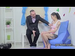 Nice schoolgirl is teased and screwed by her aged instructor