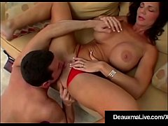 Busty Cougar Deauxma Fucks A Hard Boy Toy Almost Every Way!
