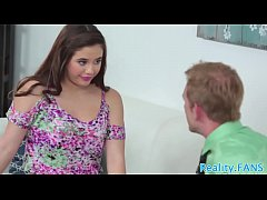 Gorgeous stepteen banged by stepdad