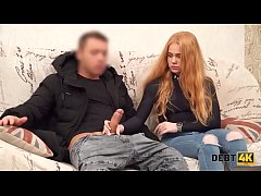 DEBT4k. Perfectly looking ginger gets rid of debts after hot sex