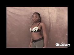 Ebony Teen Candy Caprice Talked Into Blowing A Little White Dick