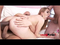 Anya Akulova Amazing DAP & DP - Asshole stuffed with multiple cocks