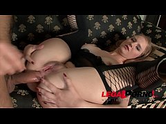 Hairy pussy whore Jennifer gets deep anal sex in stockings