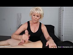 Mature woman jerking off
