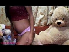 HD HD 16 week pregnant thai teen heather deep dido creamy squirt alone in the living room