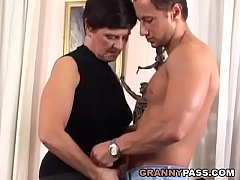 Busty Mom With Hairy Pussy Fucks Young Cock