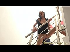 Dane Jones Horny Brazilian in stockings and heels fucked on the stairs