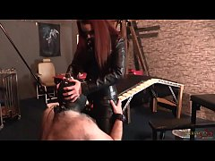 Strap-On Domination - Mistress Rebekka Raynor fucks her man slave