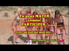 Lesbian amateur teens and milfs on beach - amateurs compilation
