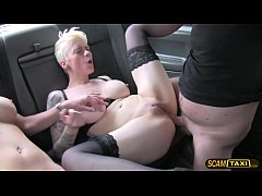 2 hot passenger gets their pussy smashed by the big cock driver