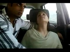 Indian couple have sex in car