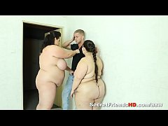Two Busty Bbw Share a Cock in Threesome