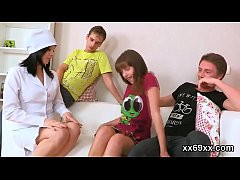 Dude assists with hymen physical and nailing of virgin chick