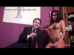 Sexy painter Symba naked with Andrea Diprè
