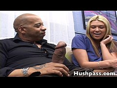 hot young blonde goes Black behind Daddys back